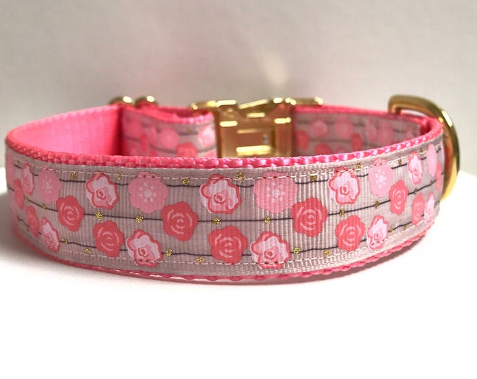 """1"""" flowers on a line collar"""