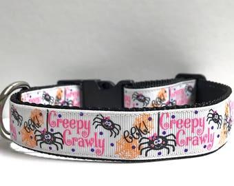 "1"" Creepy Crawly Dog collar"