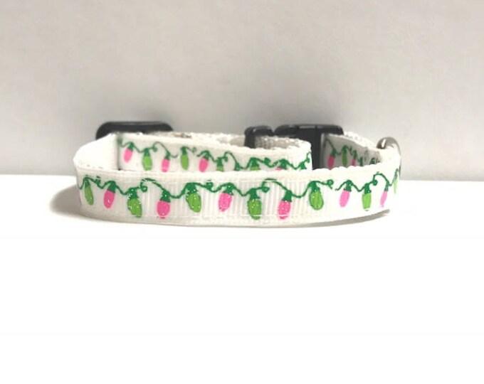"3/8"" Green & Pink Lights Collar"