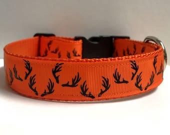 "1"" Orange Antler crazy collar"