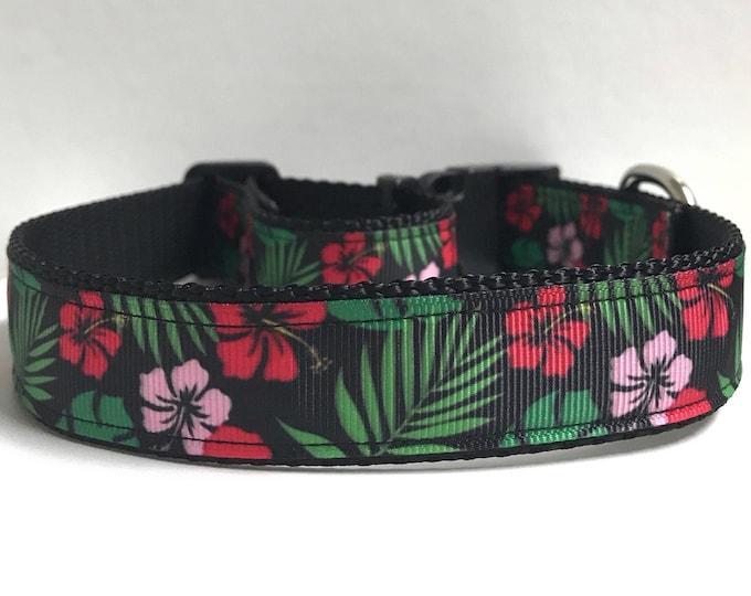 "1"" Tropical Flowers collar"