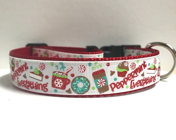 """1"""" Peppermint Everything, Red Dog Collar"""