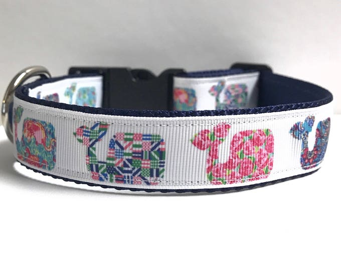 """1"""" fashion whales lilly inspired collar"""