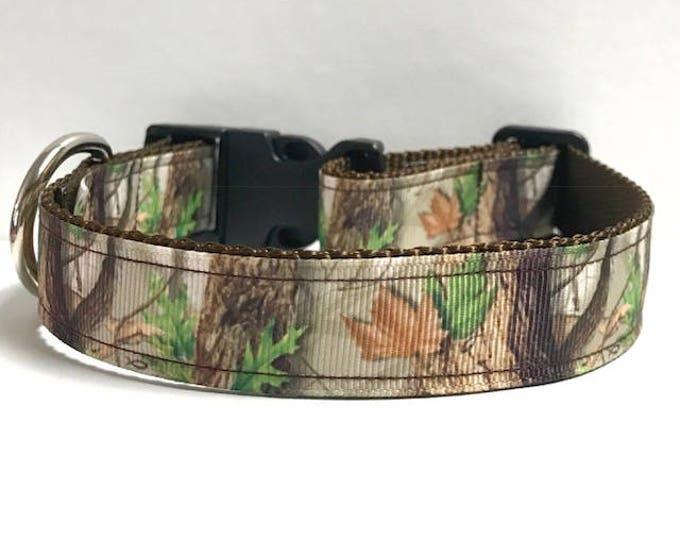 "1"" Tree Camo Collar, Leash Available"