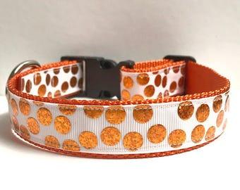 "1"" Orange Dots Collar"