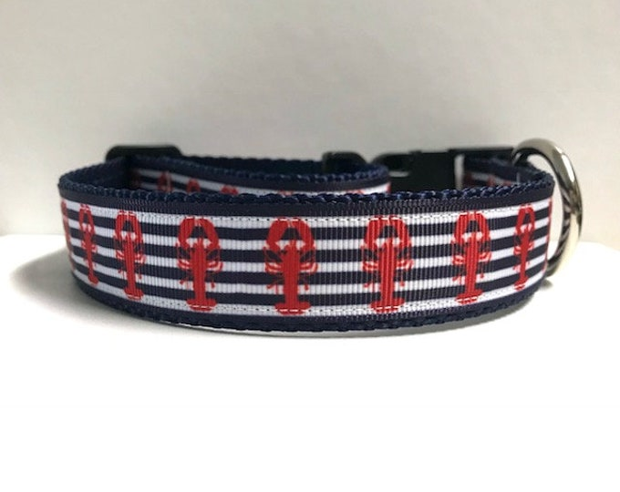 "1"" Stripes & Lobsters Collar"