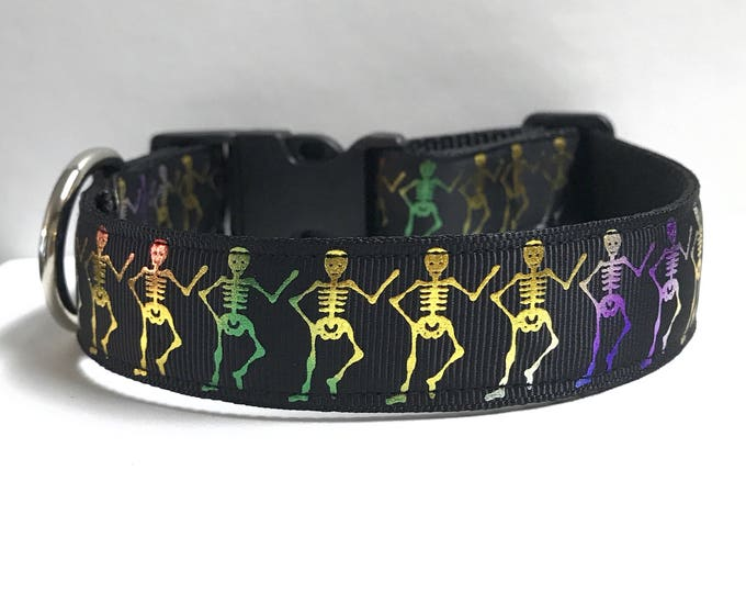 "1"" Dancing skeletons Dog collar"