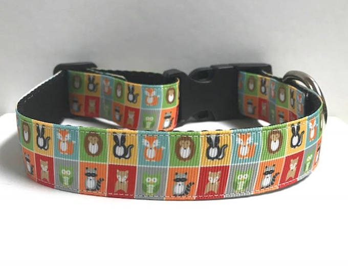 """1"""" Woodland critters collar"""
