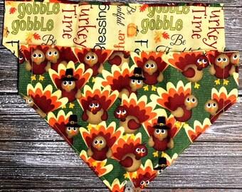 Reversible Harvest Turkey Bandana