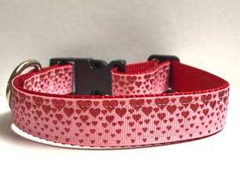 """1"""" Descending Hearts Dog Collar"""