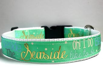"""1"""" Oh I do like to be beside the seaside collar"""