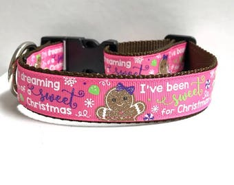"""1"""" Im dreaming of A Sweet Christmas Collar"""