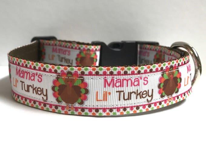 "1"" Mama's Lil' Turkey Dog Collar"