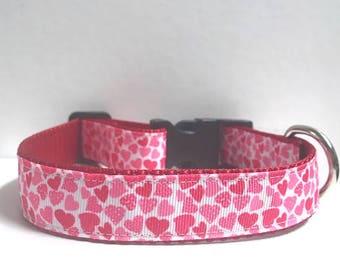 "1"" Mini hearts collar"