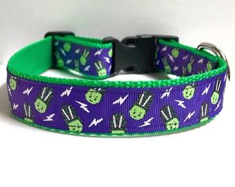 "1"" Little Monsters Dog Collar"