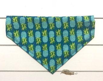 Pineapples on Blue Bandana