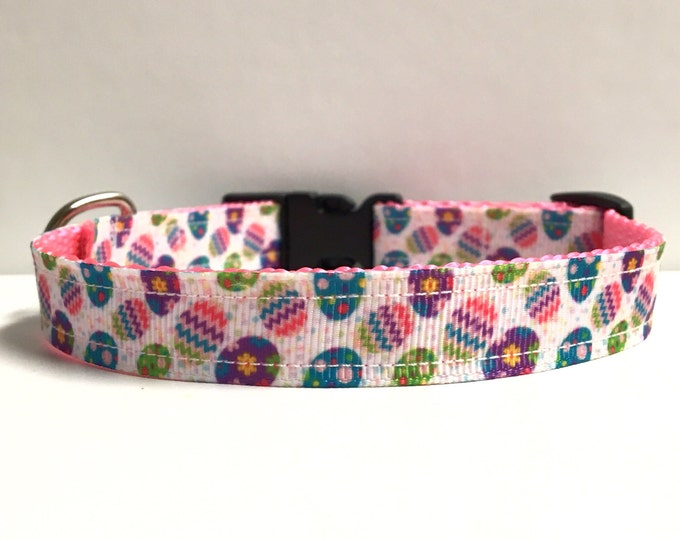 """5/8"""" Easter eggs and polka dots collar"""