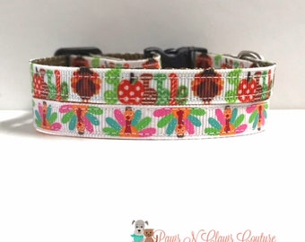 """3/8"""" Neon Feathers Turkey or Gobble Word Collar"""