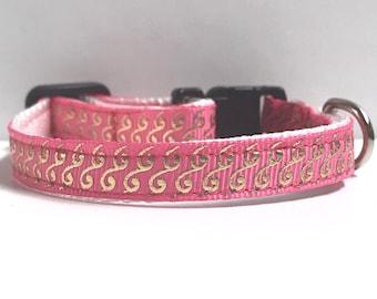 "3/8"" Waves on Pink collar"