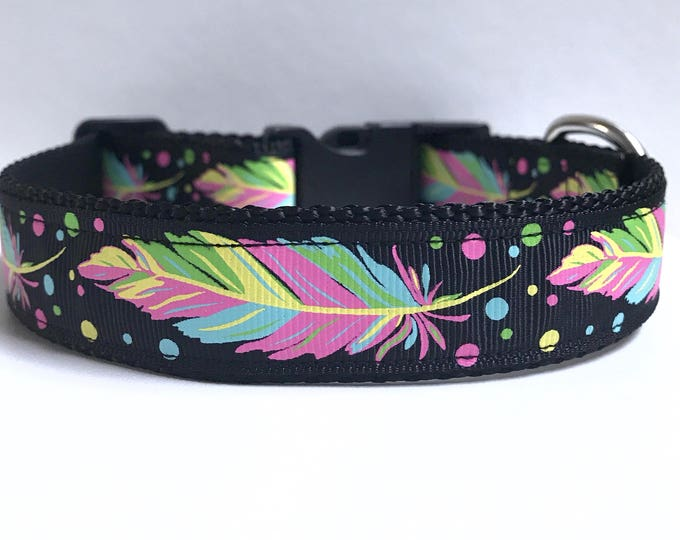 "1"" Neon Feathers collar"