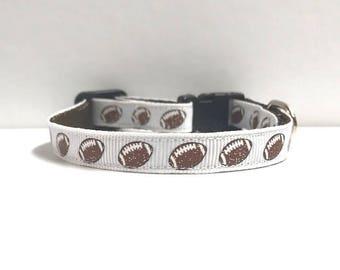 "3/8"" Glitter Mini Footballs collar"