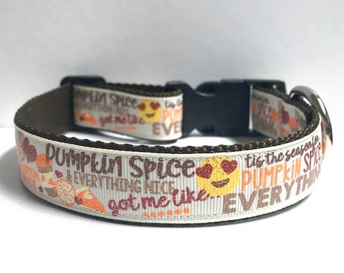 """1"""" Tis the Season for Pumpkin Spice Collar"""