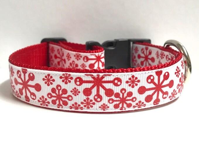"1"" Retro snowflakes collar"