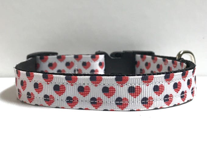 "5/8"" American Hearts collar"