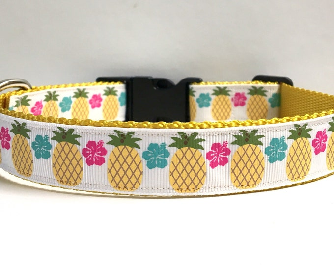 """1"""" Floral & pineapple collar"""