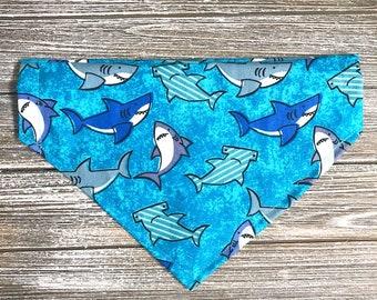 Sharks on Blue Bandana