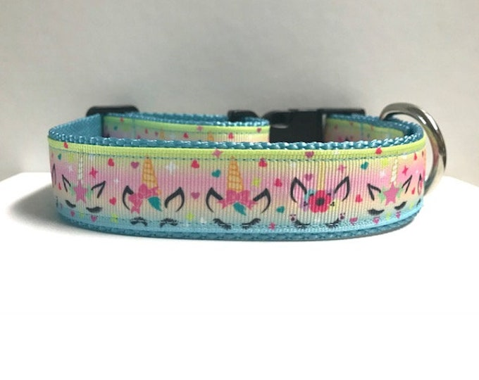 "1"" Unicorn & Floral Collar"