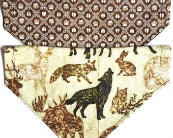 Reversible Animal tracks bandana