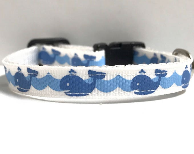 """3/8"""" whale in the ocean collar"""