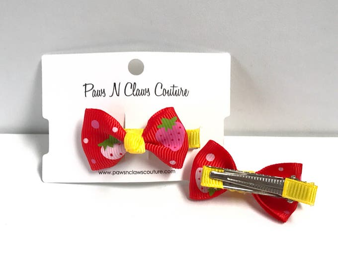 Red & Yellow fruit hair clip