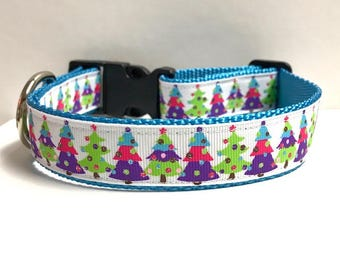 """1"""" Dotted Trees Dog Collar"""