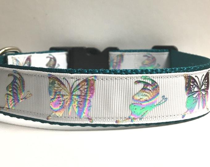 """1"""" Teal & foil butterflies"""