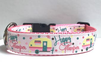 """1"""" Happy Glamper Collar, Leash Available"""