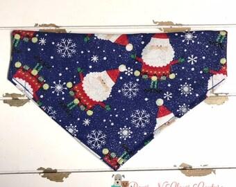 Santa and Snowflakes Bandana