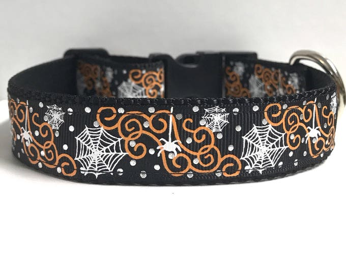 """1"""" Spider and web Dog collar"""