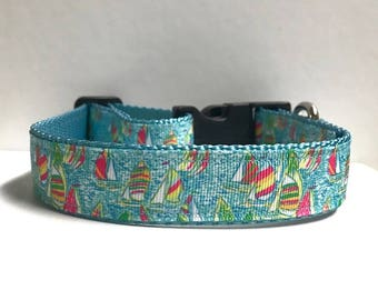 """1"""" Sailboats, Lilly inspired collar"""