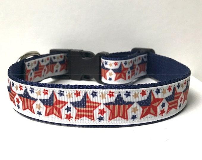 """1"""" Patriotic Stars Collar"""