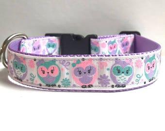 "1"" Glitter Owl Dog collar"