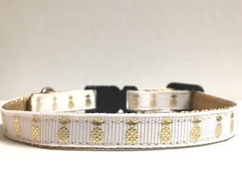 "3/8"" Gold Foil Pineapple collar"