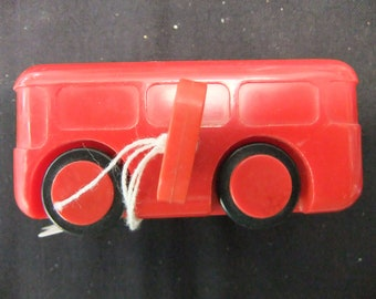 Vintage Windup Bus and Truck - Made in W Germany - Circa 1960