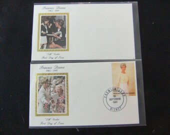 Princess Diana First Day Silk Cachet Covers - Set of Two - Lot 4