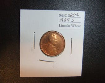 Vintage Lincoln 1927s Wheat Penny - XF