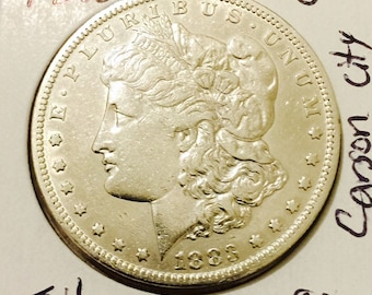 Vintage 1883cc Carson City Mint Morgan Silver Dollar - Key Date