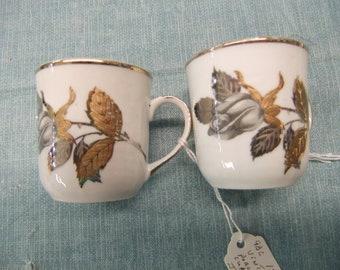 Vintage Yamasen Fine Porcelain Japan Cup and Saucer Pair