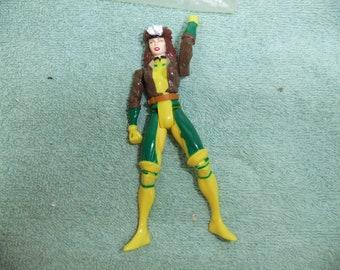 Vintage X Men Rogue Undercut Punch Action Figure - 1997 X Men Rogue Undercut Punch  Complete