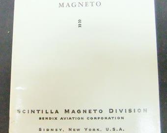 Vintage Aircraft Magneto Booklet - Scintilla Magneto Division of Bendix Aviation